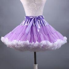 TUTU Skirt Petticoat Chemise Cosplay Pettiskirt Crinoline Fluffy Dance Skirt Red