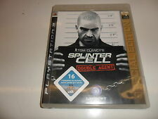 Playstation 3 ps 3 tom clancy's splinter cell: double Agent-special edition