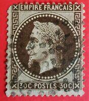 TIMBRE FRANCE EMPIRE Lauré N°30 c (TB 718-2) OBLIT 30C BRUN F. oblit. Etoile
