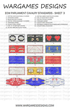 15mm ECW Parliament Horse Flags Sheet 3 - Pike & Shotte, FOG, DBR, WECW, Baroque