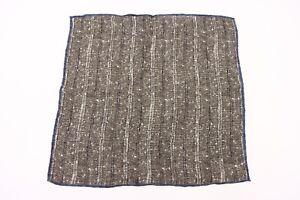 NWT Brunello Cucinelli Men's Striped + Speckled Print Pocket Square  A176