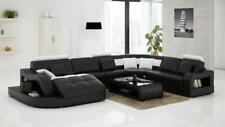 Designer Ecksofa mit Liege Couch Sofa Wohnlandschaft Ledersofa U Form Einstein