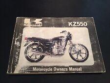 KAWASAKI KZ550 OWNERS MANUAL