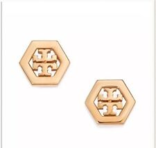 Sale!!NWT Tory Burch Classic Hex Logo Stud Earring, Gold $78