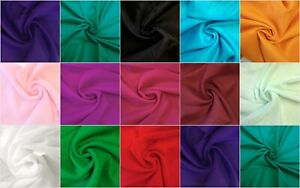 Indian Rayon Fabric Solid/Plain Dressmaking Material Craft Sewing Textiles Item