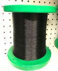 "Genuine Gudebrod BLACK HT Metallic 9001 Rod Winding Thread Size D 7"" Bulk Spool"