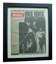 JETHRO TULL+MELODY MAKER RARE ORIGINAL 1972+POSTER+FRAMED+EXPRESS GLOBAL SHIP