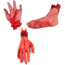Creative Terror Bloody Fake Body Hand Parts Severed Arm Hand Halloween Prop Tool