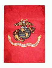 12x18 Embroidered Usmc Marines Garden Dark Globe Sleeve Nylon Flag Banner