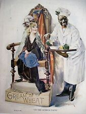 """Vintage 1923 Advertising Print for """"Cream of Wheat"""" from a Magazine *"""