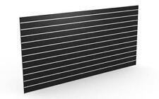 Slatwall Sheets 2400x1200-Black- Landscape 18mm Thick- 10pk