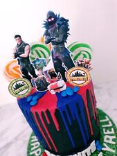 Set of Fortnite Cake Toppers