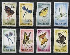 ALBANIA, BUTTERFLIES, MINT NEVER HINGED SET 1966