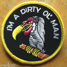 Vintage Patch Hot Rod DIRTY OLD MAN Vulcher Tattoo Panhead Knucklehead Punk Roth