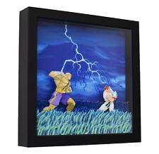 "Street Fighter Alpha 2 (Ryu vs. Sagat) - 3D Shadow Box Frame (9"" x 9"")"