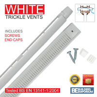 White 1 x AirAway Trickle Slot Vents 410mm Ventilation UPVC & Timber Windows