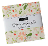"Moda, Summer Sweet, 5"" Charm Pack, Fabric Quilting Squares, 37580PP, SQ118"