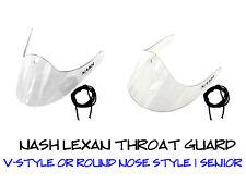 Nash Lexan Hockey Goalie Throat Guard, Neck Protector SR or JR