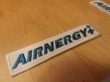 Biathlon Aufnäher Patch AIRNERGY neu Schriftzug 8,0 x 1,9 cm grün Sponsor