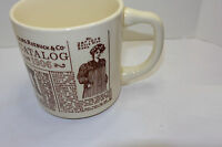 VINTAGE SEARS COFFEE CUP/MUG DECORATED WITH 1906 CATALOG ADS! MADE IN USA