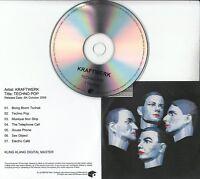 KRAFTWERK Techno Pop 2009 UK Mute remastered 7-track promo test CD Electric Cafe