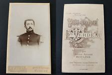 Verdeau, Moulins, militaire en buste Vintage albumen print CDV. Tirage a
