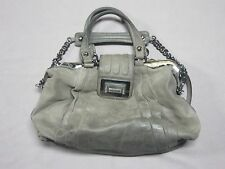 MARCIANO BY GUESS WOMENS DARK GRAY LEATHER DOCTOR STYLE HANDBAG PURSE BAG USED
