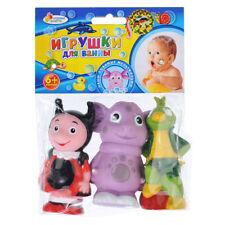 Set of 3 Bath Toys Squeaky Luntik, Mila and Kuzia~New~Russian Cartoon Лунтик