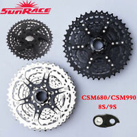 UK SunRace 8 9 Speed 11-40T Shimano Bicycle Cassette MTB Bike Freewheel Adapter