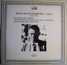 Piano Blues Rarities Vol 2 1933-1937 LP Whistlin Rufus~Curtis Henry~Ben Abney NM