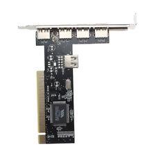 USB 2.0 4 Port 480Mbps Speed VIA HUB Adaptec Controller Card PCI Adapter Karte