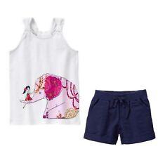 Gymboree NWT Spice Market Size 5 Elephant Tank Top Linen Shorts 2 PC LOT Outfit