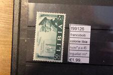 FRANCOBOLLI COLONIE LIBIA PA 45  MH* LINGUELLATI (F99126)