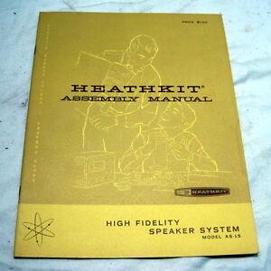 HEATHKIT AS-15 SPEAKER ASSEMBLY & OPERATIION MANUAL==ORIGINAL!