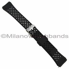14mm Flex-On Black Rubber Fits Timex Triathlon Watch Band BUY 1 GET 3 FREE