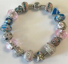 ❤️Authentic PANDORA BRACELET ~ Pink & Blue European Charm Beads Pandora Box #2❤️