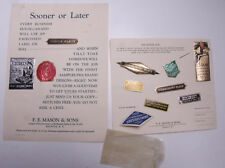1929 Lamson Goodnow SAMPLES LABELS FE Mason Sons Batavia NY Seals Ephemera L640G