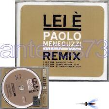 """PAOLO MENEGUZZI """"LEI E' REMIX"""" RARO CDsingolo PROMO 3 REMIX"""