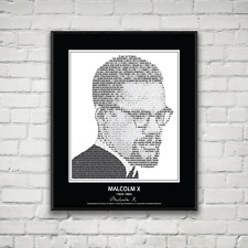 Original Malcolm X Poster in his own words. Image made of Malcolm X quotes!