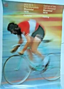 1976 Summer Olympic Montreal original Cycling/velo poster