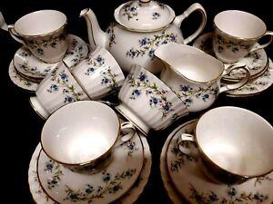 "Duchess ENGLISH PRETTY  ""TRANQUILITY DESIGN"" Bone China PERFECT   21 pce TEA SET"