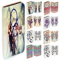 For Apple iPhone Series Case - Dream Catcher Print Wallet Phone Case Cover