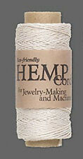 100ft Roll White Natural Hemp Cord .5MM