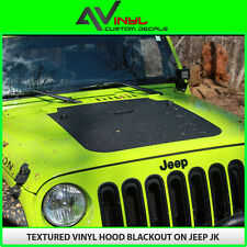 Blackout Hood Decal Textured Black Out install kit Fit: Jeep Wrangler JK 07-18