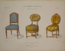 Stampa antica Le Garde-Meuble design arredamento old print gravure druck