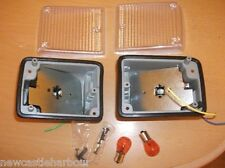 VW CAMPER CLEAR INDICATOR UNITS FRONT COMPLETE 1972-79 NEW T2 Type 2 Bay Bus