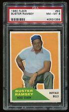 1960 Fleer #92 Buster Ramsy *Bills* PSA 8 NM-MT Cert #40531358