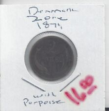From Show Inv. - A NICE OLD 2 ORE COIN w/ PORPOISE from DENMARK DATING 1874