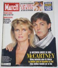 PAUL & LINDA McCARTNEY Paris Match 1998 magazine cover & 7 page article beatles