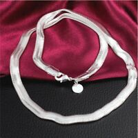 Silver Sterling Solid 6MM Snake Necklace Chain 16-30 Inch Fashion Men Women